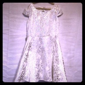 Silver and White Blush by US Angels Dress